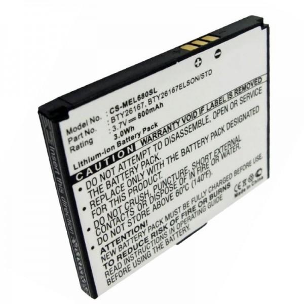 AccuCell Akku passend für Mobistel Elson EL680 Akku Li-Ion 3,7 Volt, 800mAh