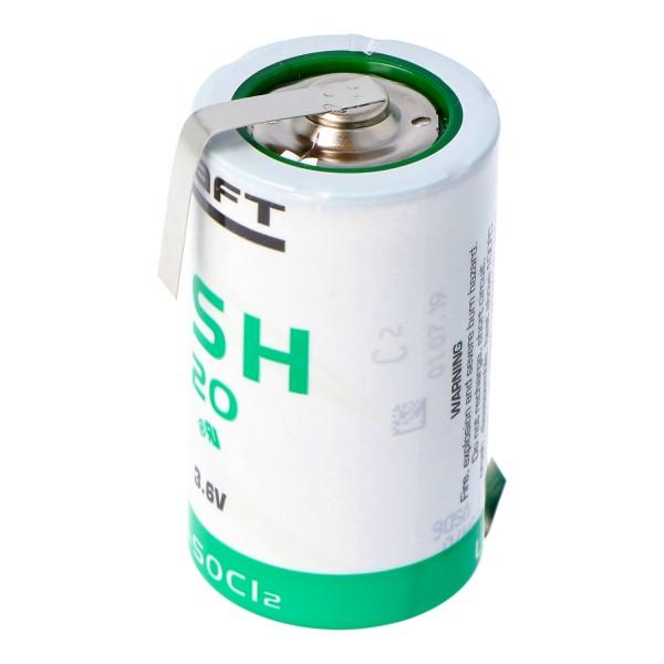 SAFT LSH 20 Lithium Batterie 3.6V Primary LSH20 mit Z-Lötfahnen