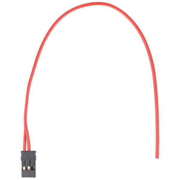 Empfängerakkuanschlusskabel Graupner JR Stecker, Flach, 2 x 0,25 mm²