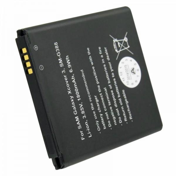 Akku passend für Samsung Galaxy Xcover 3, SM-G388, EB-BG388BBE, 1800mAh bis