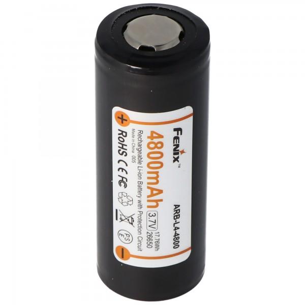 Fenix ARB-L4-4800 26650 Li-Ion Akku geschützt 3,7 Volt mit 4800mAh