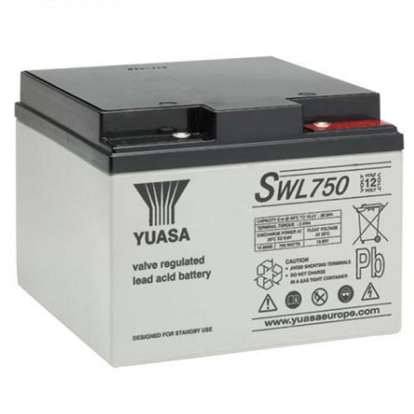 Yuasa SWL750 12V 25Ah Blei Akku Yuasa High Rate VRLA Battery Capacity at 20-hour Rate Ah: 25