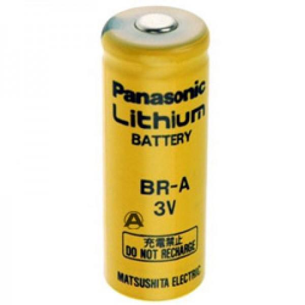 BR-A Panasonic Lithium Batterie ohne Lötfahne, 3,0 Volt