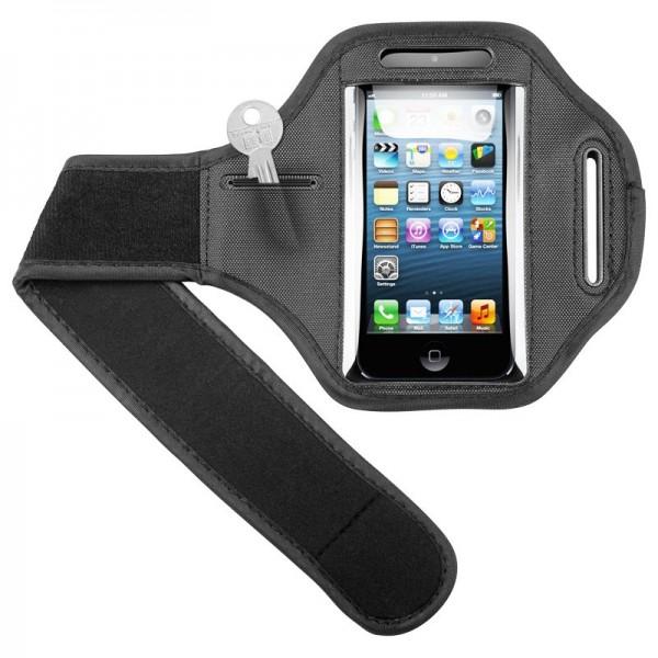 Sportbag passend für Ihr Apple iPhone 5, 5C, 5S mit Klettverschluss-Armband für Jogging und Fitness