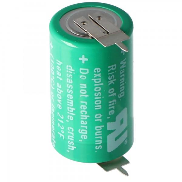 Varta CR1/2AA Lithium Batterie 6127 mit 1er Print Lötfahne