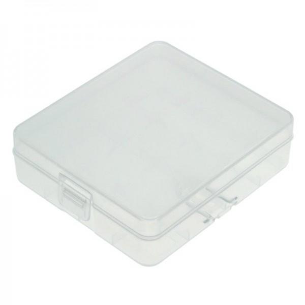 Universal AccuSafe Aufbewahrungsbox für 1 bis 4 Stück 18650 Li-Ion Akku mit bis zu 68mm länge