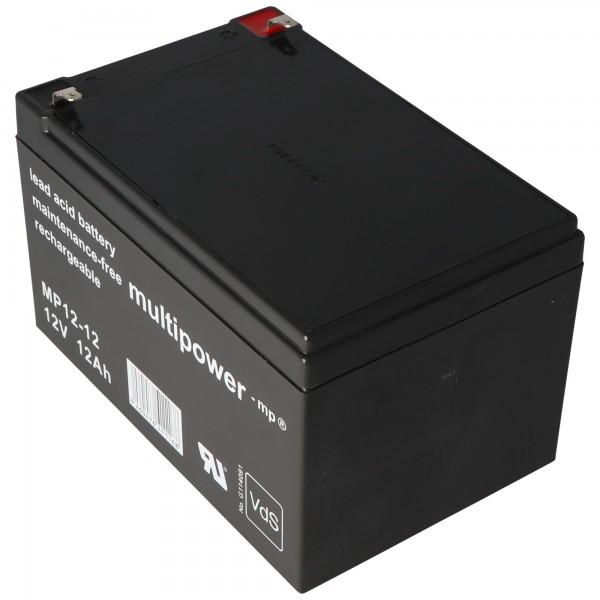 Multipower MP12-12 Blei Akku 12 Volt 12Ah