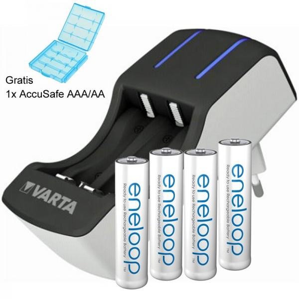 Panasonic eneloop Micro AAA und Varta 2-4fach Ladegerät inklusive AccuSafe
