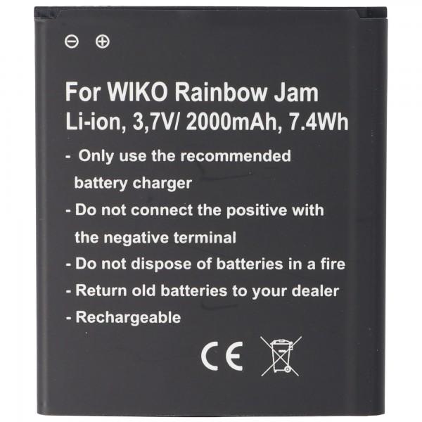 Akku passend für Wiko Rainbow Jam, Wiko Rainbow Jam 4G, Akku 5222, 60,2 x 70,0 x 4,7mm