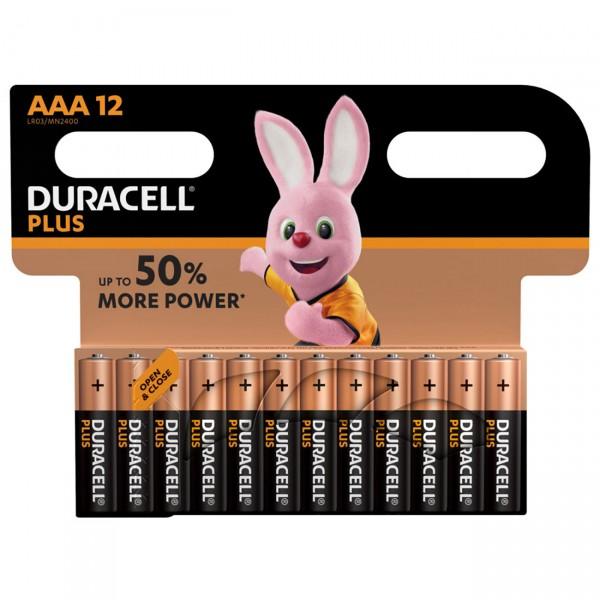 Duracell MN2400 Plus Power Micro Batterie 12 Stück im Kartonblister