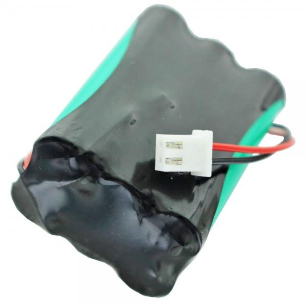 Akku passend für Esylux EN10030956 7,2 Volt 600mAh, Akkupack mit Kabel und Stecker, passend für ESYLUX Notleuchten Serie SLC SLD SC/C