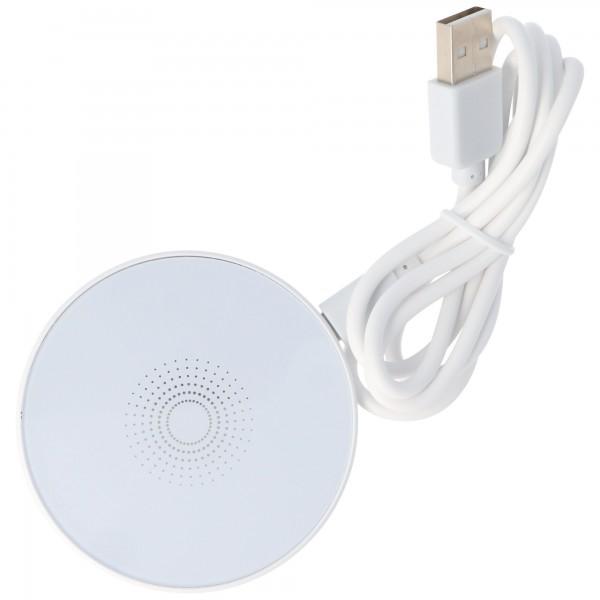 Induktionsladegerät für Qi-kompatible Handy, Smartphone und Endgeräte, weiß, Ladestrom 1A