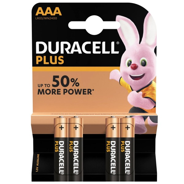 DURACELL Plus Micro/AAA 4er Pack