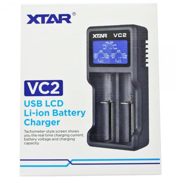 2-Schacht USB-Ladegerät mit großem Display, mit bis zu 0,5Ah Ladestrom