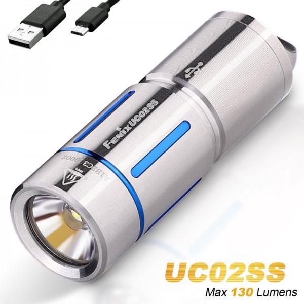 Fenix UC02SS LED schlüsselbundleuchte, mit Akku und Ladekabel