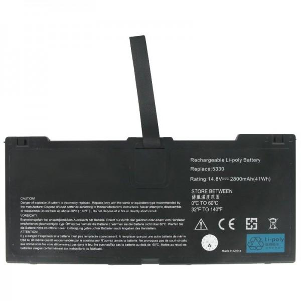Akku passend für HP Probook 5330, 5330m, 635146-001, FN04, HSTNN-DB0H, QK648AA, 2800mAh