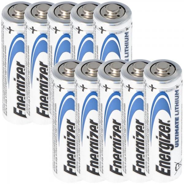 Energizer Ultimate Lithium Batterie 10er Box Energizer AA Batterie 1,5 Volt Batterie Energizer Ultimate Lithium AA 3100mAh