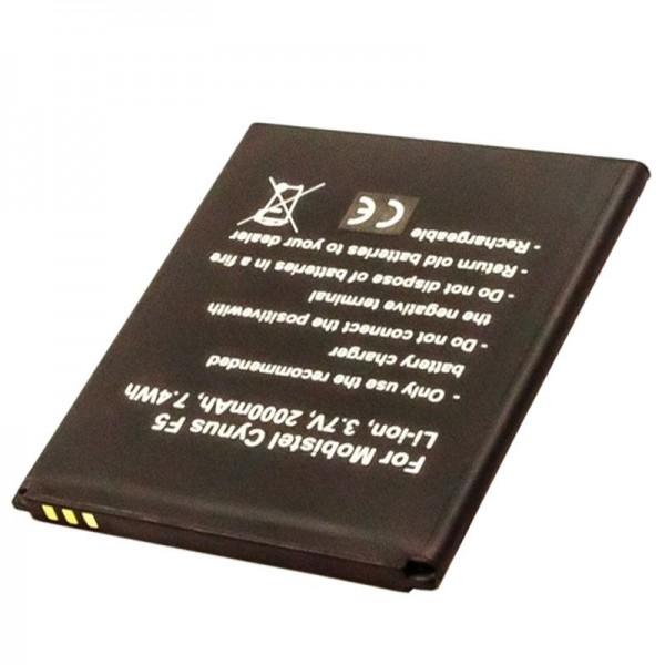 Akku passend für den Mobistel Cynus F5 Akku BTY26184, MT-8201B, MT-8201S, MT-8201W, 2000mAh