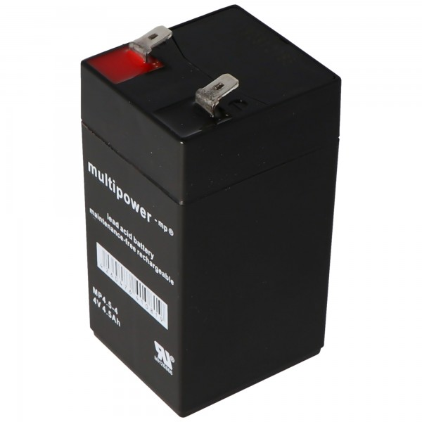 Multipower MP4.5-4 Akku PB Blei 4 Volt, 4500mAh, 6,3mm Kontakte