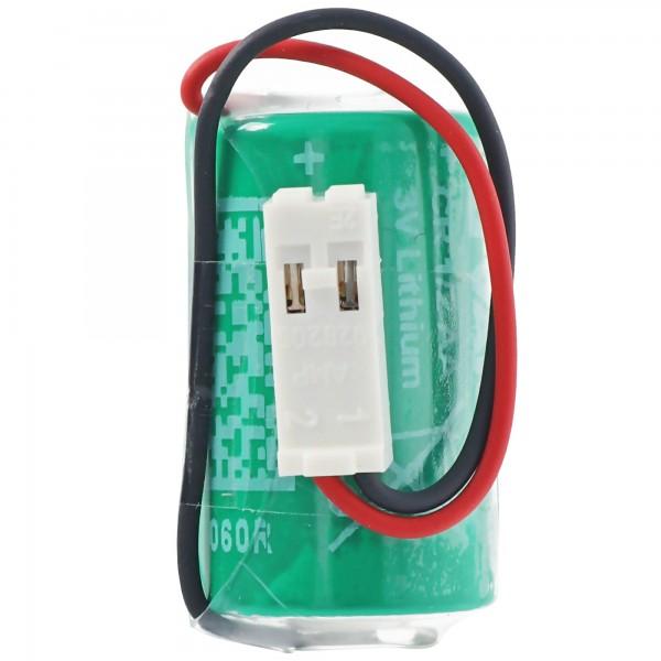 CR1/2AA mit Kabel und Stecker passend für die Siemens 575332TA Batterie, vor Einbau unbedingt die Polung prüfen