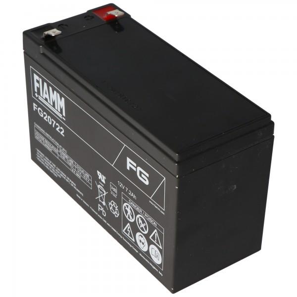 Fiamm FG20722 Akku 12 Volt, 7,2Ah mit 6,3mm Steckkontakten