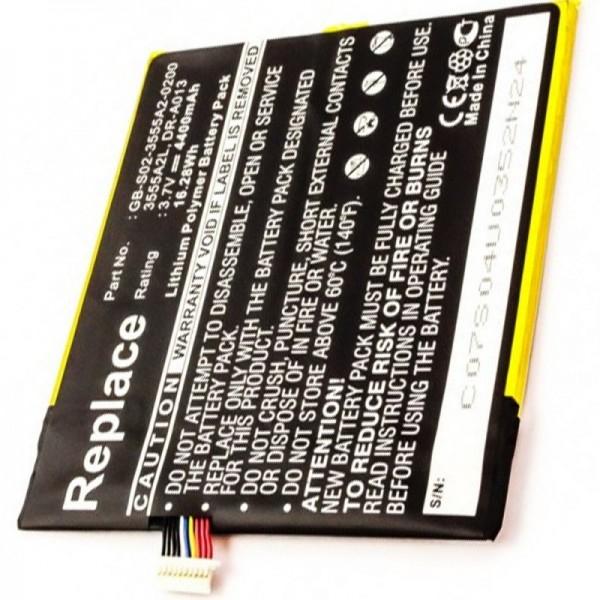 Akku passend für Amazon Kindle Fire, Akku D01400, DR-A013, QP01 3,7 Volt 4400mAh Li-Polymer