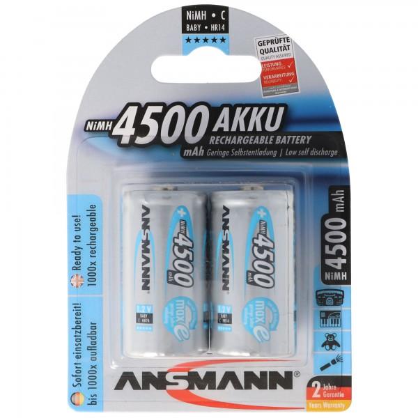 Ansmann maxE Baby C LR14 4500mAh NiMH Akku im 2er Blister