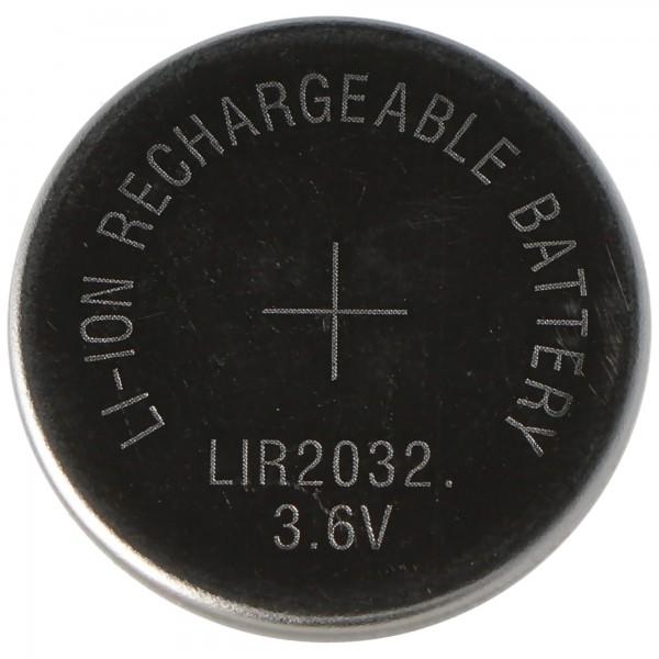 LIR2032 Li-Ion Akku 3,6V Akku LIR 2032, 3,2 x 20 mm