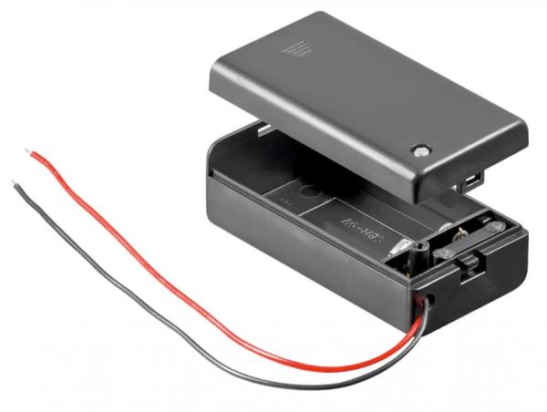 AccuCell Batteriehalter für 1x 9Volt Block mit Ein- und Aus-Schalter