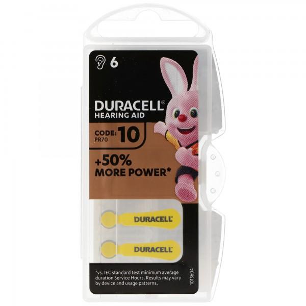 Duracell Hörgerätebatterie DA 10 AC Zn/Luft 1,4 Volt 105mAh