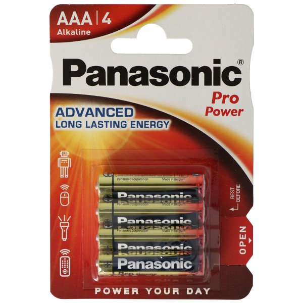 Panasonic Pro Power Alkaline Micro AAA, LR03 im 4er Blister