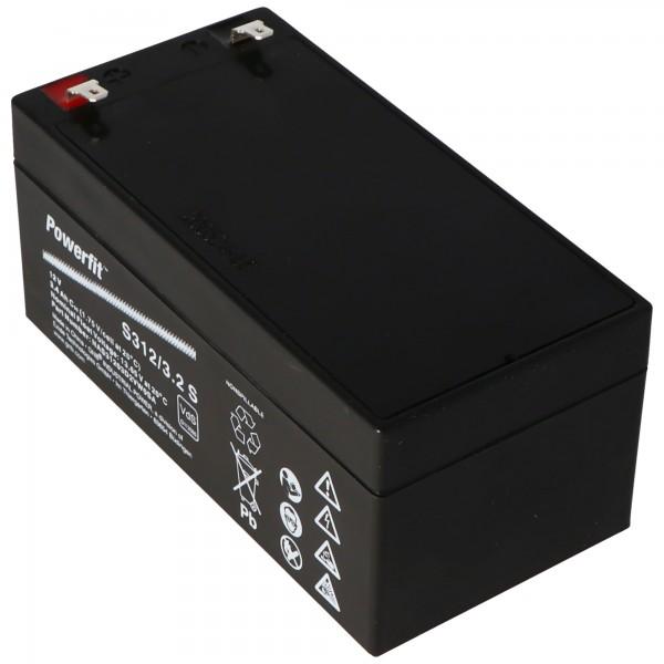Exide Powerfit S312/3.2S Blei Akku, Anschluss 4,8mm, VDS