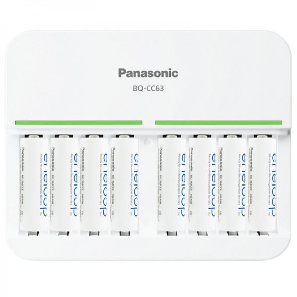 8fach Panasonic Schnell-Ladegerät und 8 Stück eneloop Standard Mignon AA BK-3MCC