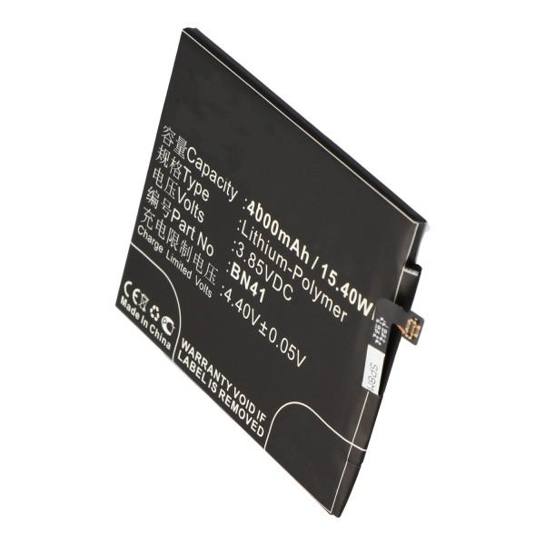 Akku nur passend für Xiaomi Note 4 Akku BN41, BN41L Li-Polymer 3,85V, 4000mAh, 15,4Wh, built-in, ohne Werkzeug