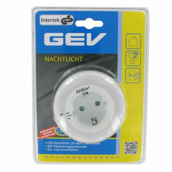LED-Nachtlicht weiss mit eingebautem Dämmerungsschalter ca. 10 Lux