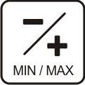 MIN/max. Anzeige