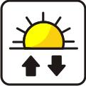 Sonnenauf- und -untergangsanzeige